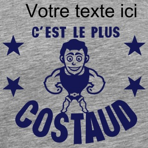 ajouter texte costaud muscle personnage Tee shirts - T-shirt Premium Homme