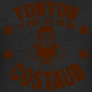 tonton plus costaud muscle personnage Tee shirts - Tee shirt près du corps Homme
