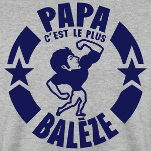 papa baleze muscle bodybuilder logo Sweat-shirts - Sweat-shirt Homme