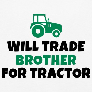 Will trade brother for tractor vil samhandel bror for traktor Langærmede shirts - Børne premium T-shirt med lange ærmer
