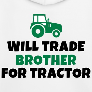 Will trade brother for tractor vil samhandel bror for traktor Sweatshirts - Premium hættetrøje til børn