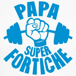 papa super fortiche haltere tordu poing Manches longues - T-shirt baseball manches longues Homme