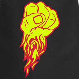 Fist flame fire close flamme finger fight  Aprons - Cooking Apron