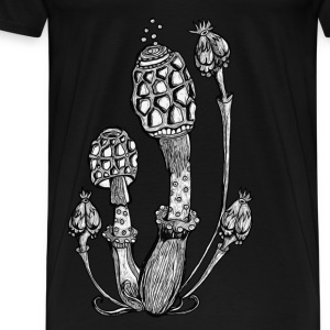 Champignons, Magic Mushrooms, psychédélique, goa Tee shirts - T-shirt Premium Homme