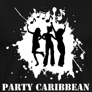 Party Caribbean (Vector-Black Dancers) - Men's Premium T-Shirt