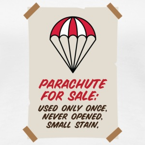 Parachute for sale. Only once opened! T-Shirts - Women's Premium T-Shirt