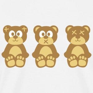 Three wise monkeys teddy bears trois singes sages nounours Tee shirts - T-shirt Premium Homme