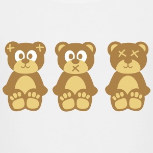 Three wise monkeys teddy bears trois singes sages nounours Tee shirts - T-shirt Premium Enfant