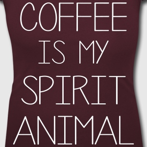 Coffe Is My Spirit Animal T-Shirts - Women's Scoop Neck T-Shirt