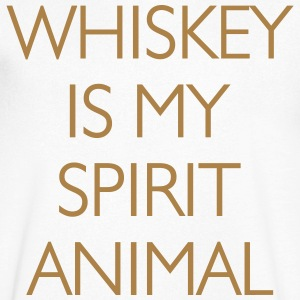 Whisky Is My Spirit Animal T-Shirts - Men's V-Neck T-Shirt