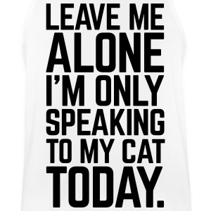 Only Speaking To My Cat Sportbekleidung - Männer Tank Top atmungsaktiv