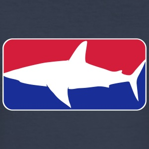 league_shark_vec_3 de T-Shirts - Männer Slim Fit T-Shirt