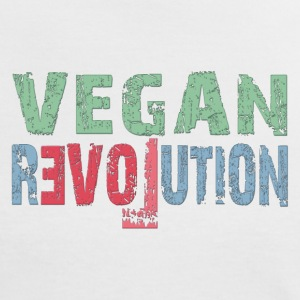 VEGAN REVOLUTION T-Shirts - Frauen Kontrast-T-Shirt
