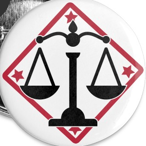 advokat Advokater dommer jurist forsøg lawyer Buttons & badges - Buttons/Badges mellemstor, 32 mm