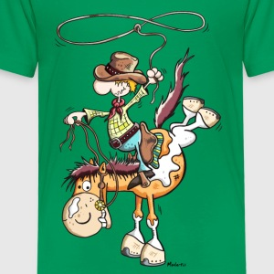 Cowboy with horse Shirts - Kids' Premium T-Shirt