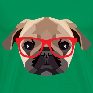 Hipster Mops (Low Poly) T-shirts - Herre premium T-shirt