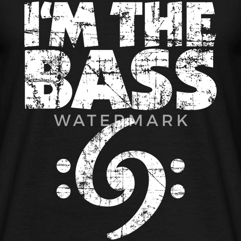 I'm the Bass 69 Vintage White (NL) T-shirts - Mannen T-shirt