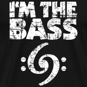I'm the Bass 69 Vintage White (DK) T-shirts - Herre premium T-shirt