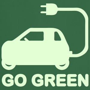 GO GREEN ~ DRIVE ELECTRIC CARS  Aprons - Cooking Apron