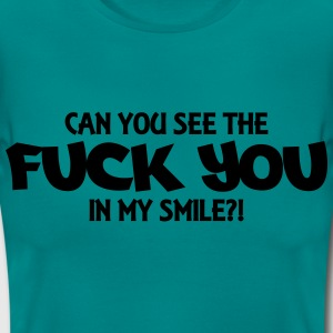 Can you see the Fuck you in my smile?! Camisetas - Camiseta mujer