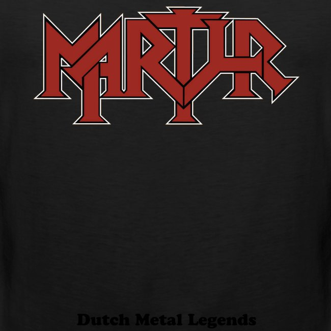 MARTYR  red logo male Tank Top