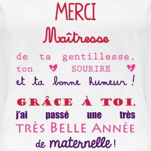 Tee shirts cadeau professeur spreadshirt - Remerciement maitresse d ecole cp ...