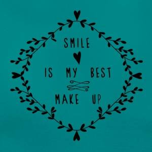 SMILE IS MY BEST MAKE UP T-shirts - Dame-T-shirt