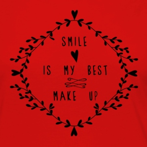 SMILE IS MY BEST MAKE UP Long Sleeve Shirts - Women's Premium Longsleeve Shirt