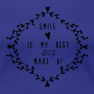 SMILE IS MY BEST MAKE UP T-shirts - Premium-T-shirt dam
