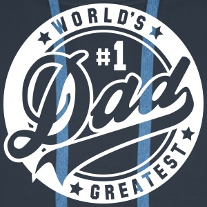 worlds greatest dad no1 uni Pullover & Hoodies - Männer Premium Hoodie