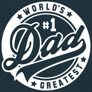 worlds greatest dad no1 uni T-shirts - Mannen T-shirt