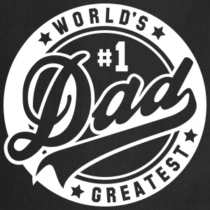worlds greatest dad no1 uni Kookschorten - Keukenschort
