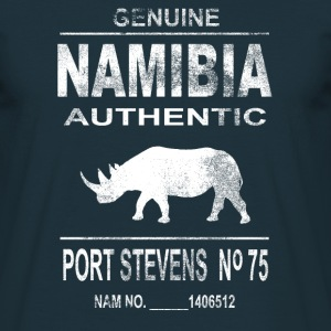 Namibia Rhino - Vintage Look Tee shirts - T-shirt Homme