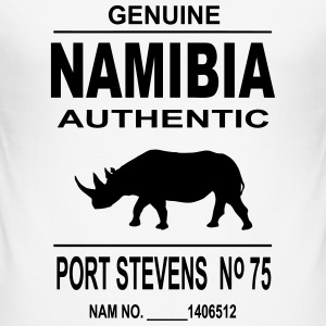 Namibia Rhino T-Shirts - Men's Slim Fit T-Shirt