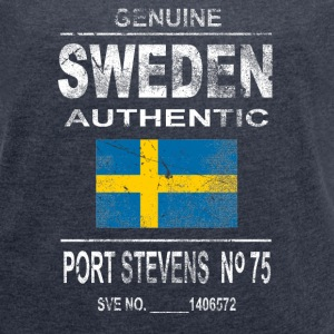 Sweden - Vintage Look T-Shirts - Women's T-shirt with rolled up sleeves