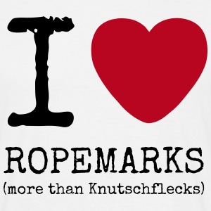 I love Ropemarks - more than Knutschflecks - Männer T-Shirt