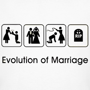 EVOLUTION OF MARRIAGE - Men's Organic T-shirt