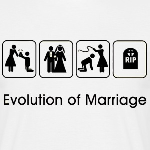 EVOLUTION OF MARRIAGE T-shirts - Herre-T-shirt