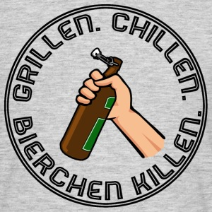Grillen, Chillen, Bierchen killen. Black - Männer T-Shirt