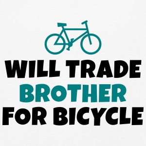 Will trade brother for bicycle vil samhandel bror til cykel Langærmede shirts - Børne premium T-shirt med lange ærmer