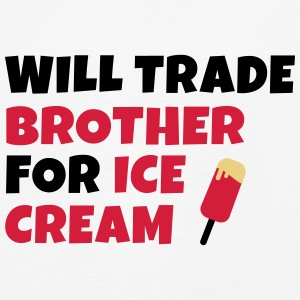 Will trade brother for ice cream negociará a hermano para helados Manga larga - Camiseta de manga larga premium niño