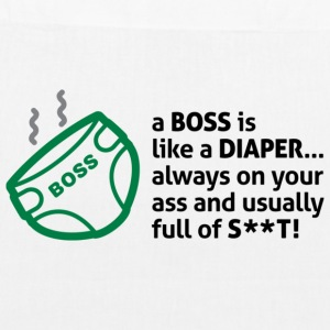 Bosses are like diapers Bags & Backpacks - EarthPositive Tote Bag