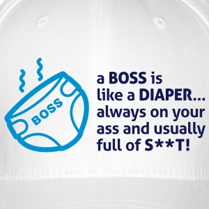 Bosses are like diapers Caps & Hats - Flexfit Baseball Cap