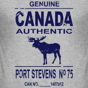 Canada Moose - Vintage Look T-shirts - Herre Slim Fit T-Shirt