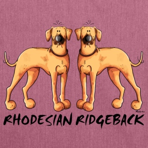 Two Rhodesian Ridgeback Bags & Backpacks - Shoulder Bag made from recycled material
