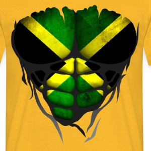 Jamaica flag torso body muscled abdos T-Shirts - Men's T-Shirt