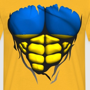 ukraine flag torso body muscled abdos T-Shirts - Men's T-Shirt