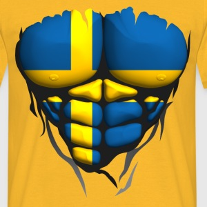 Sweden flag torso body muscled abdos T-Shirts - Men's T-Shirt