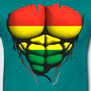Lithuania flag torso body muscle abdo T-Shirts - Men's T-Shirt