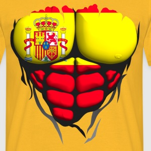 Spain flag torso body muscle abdos T-Shirts - Men's T-Shirt